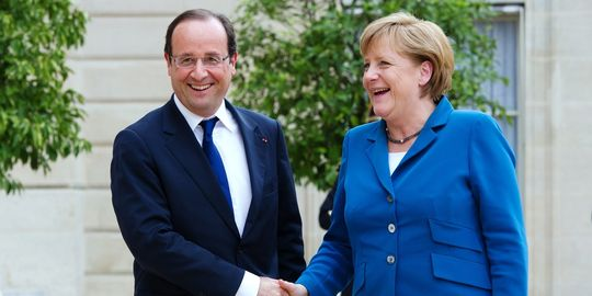 MyFrenchLife™ - French President - Francois Hollande - Merkel