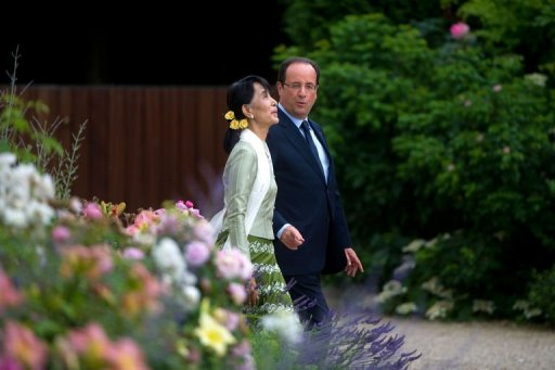 MyFrenchLife™ - French President - Francois Hollande - Suu Kyi