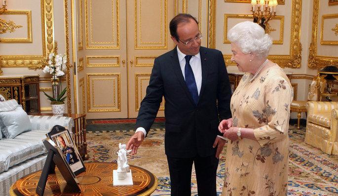 MyFrenchLife™ - French President - Francois Hollande - HRH Queen Elizabeth ii