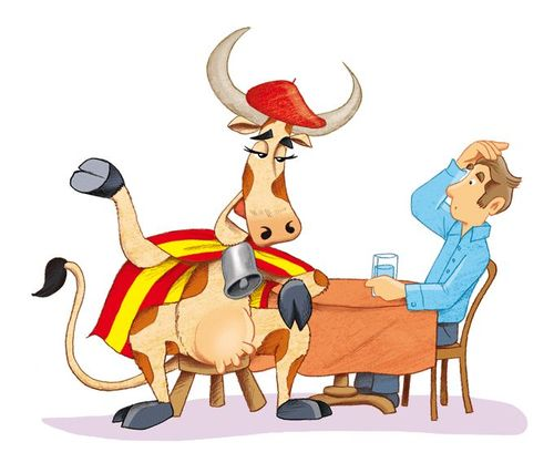 French language - idioms - My French Life - vache
