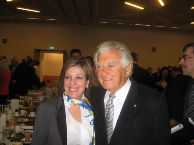 Iman with Former PM Bob Hawke