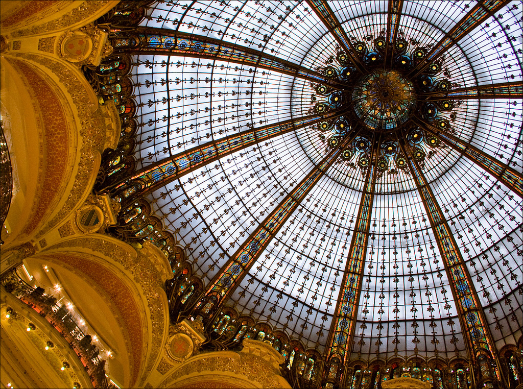Galeries Lafayettes - Walking tour of Paris - www.MyFrenchLife.org