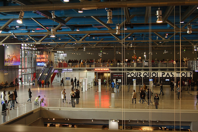 Centre Pompidou Interior by Steve Shupe - James Rogers - MyFrenchLife.org