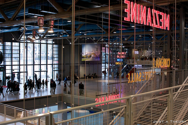Inside Centre Georges Pompidou by David Wheeler - James Rogers - MyFrenchLife.org