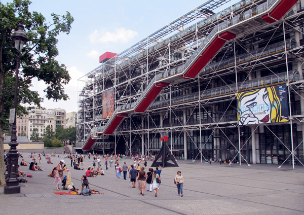 Front facade of the Centre Pompidou - James Rogers - MyFrenchLife.org
