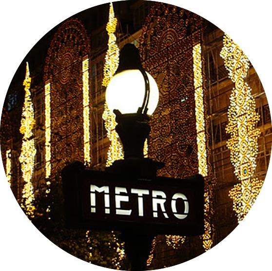 Metro lights France