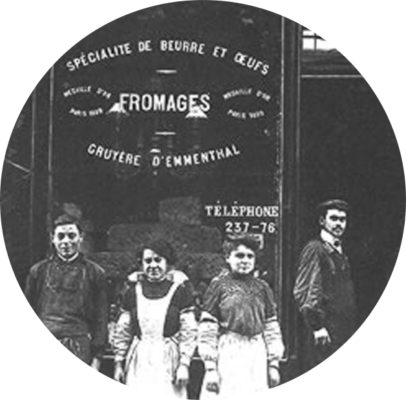 MyFrenchLife™ - MyFrenchLife.org - Paris Mosaic - artisans in Paris - Androuet Fromagerie - Cheese shops in Paris - French cheese - 1909