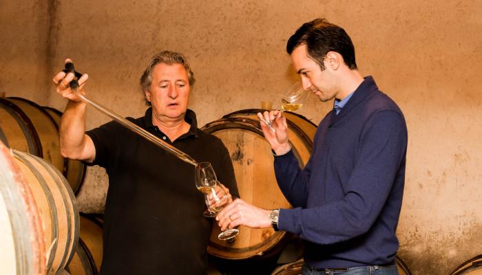 Barrel tasting at Domaine Rougeot