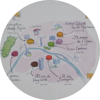 MyFrenchLife™ - macaron - Paris macaron map