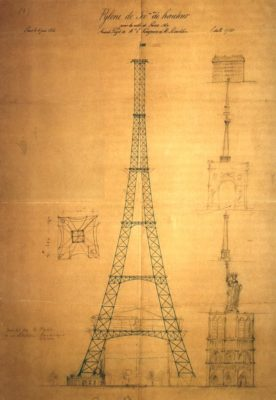 MyFrenchLife™ – MyFrenchLife.org - Eiffel Tower - To Capture What We Cannot Keep - Beatrice Colin- Maurice Koechlin sketch