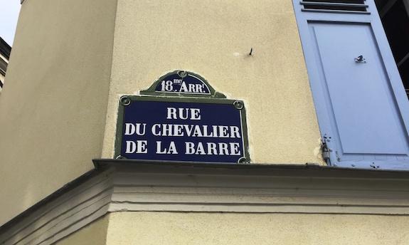 MyFrenchLife™ - Laïcité  -  Rue du Chevalier de la Barre street sign