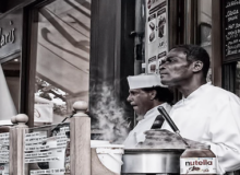 MyFrenchLife™ – MyFrenchLife.org – Paris Insight – Crepe man – MidlifeinParis – Kevin Doolan – street photography – crepe seller