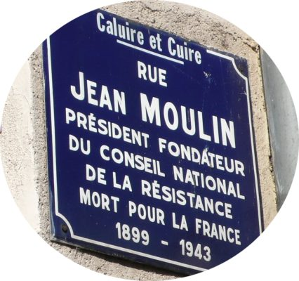 MyFrenchLife™ - MyFrenchLife.org - Jean Moulin - French Resistance - World War Two - French History - Charles de Gaulle - Plaque rue Jean Moulin