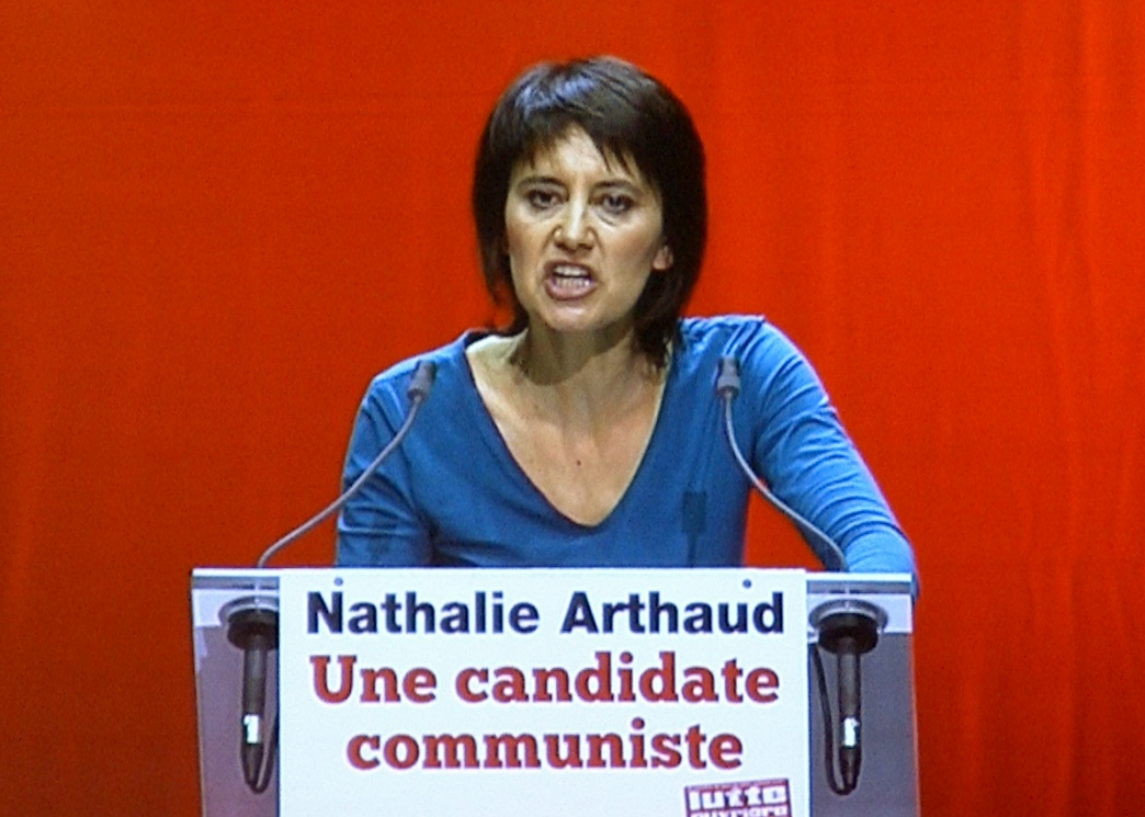 MyFrenchLife™ – MyFrenchLife.org - French presidential debate - French election - 2017 - Nathalie Arthaud