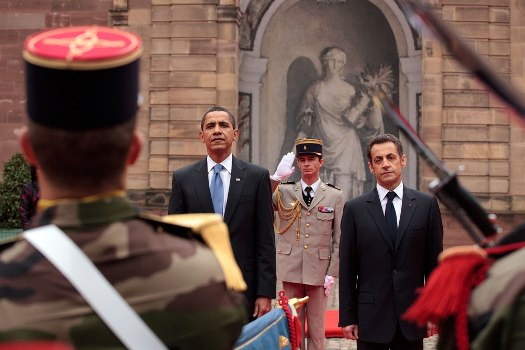 MyFrenchLife™ - defending paris - Obama and Sarkozy - MyFrenchLife.org
