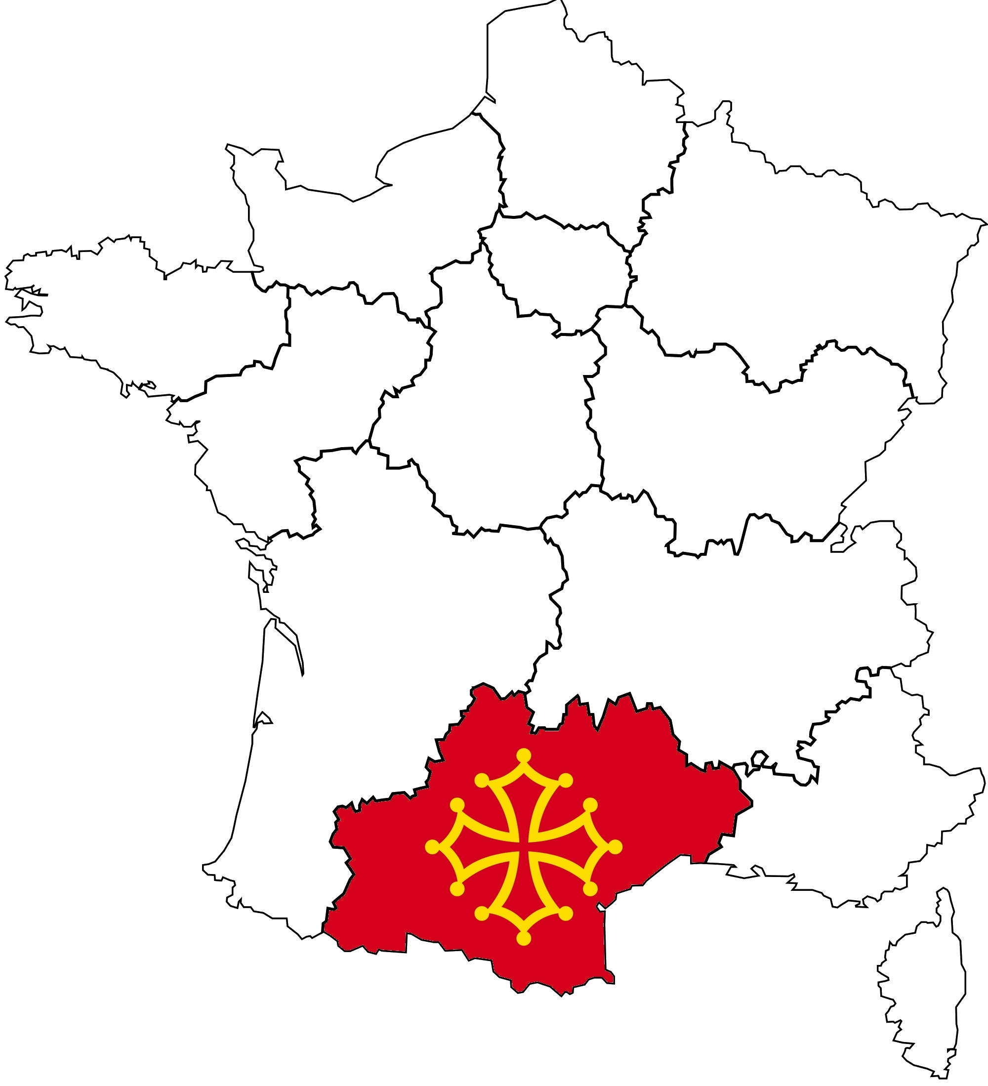 MyFrenchLife™ - MyFrenchLife.org - Occitania - Occitanie - regions of France - France Map