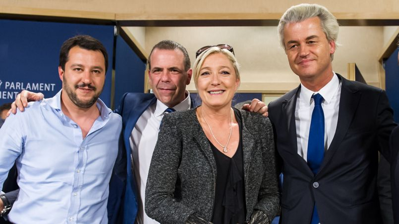 Marine Le Pen, Matteo Salvini, Geert Wilders, Harald Vilimsky - European elections: what does it mean for expats in France? - MyFrenchLife.org