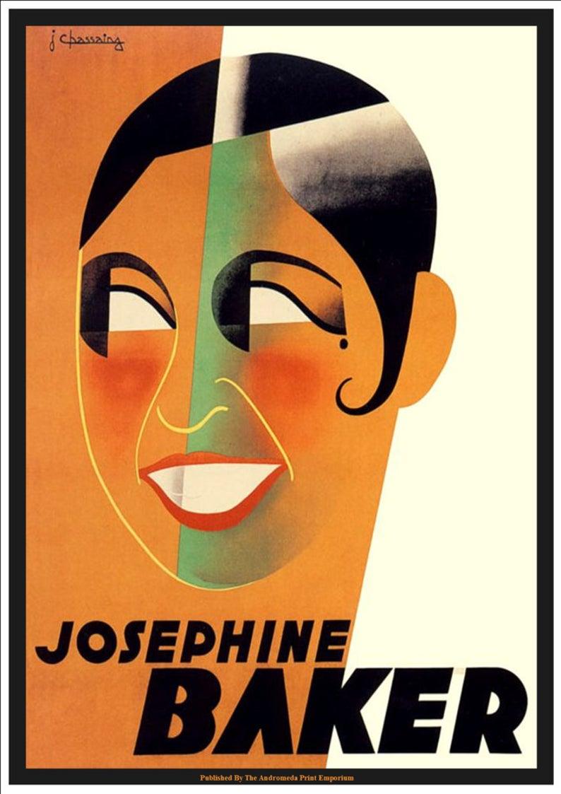 Josephine Baker (1931) - Vintage Advertising Poster Art Print MyFrenchLife.org