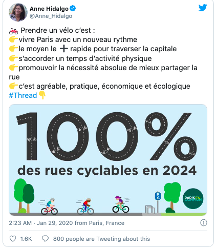 Paris bicycle revolution: COVID accelerates Paris going Green