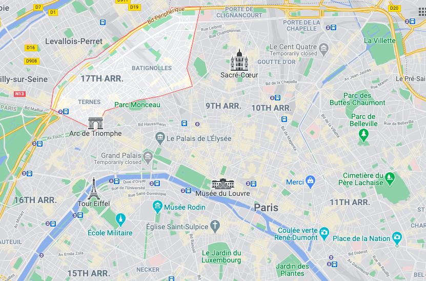 Guide to 17th arrondissement, Paris and Parc Monceau