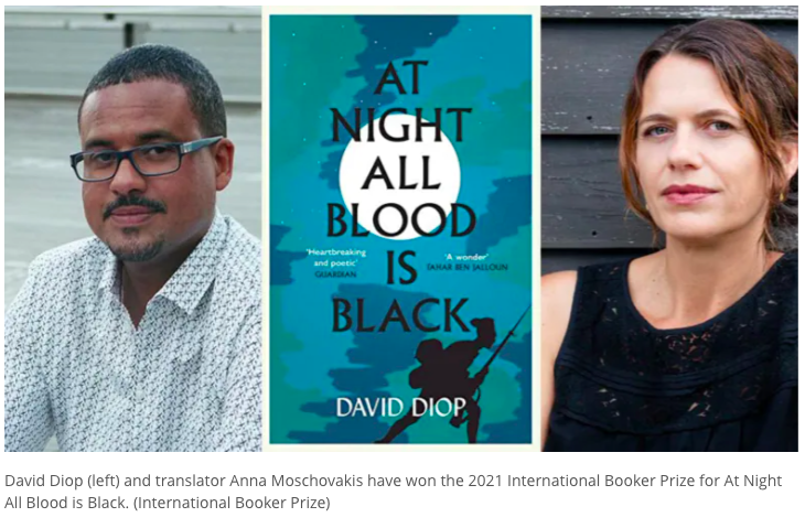 Book Review: At Night All Blood is Black by David Diop - translated by Anna Moschovakis MyFrenchLife.org -  Anne-Sophie Rouveloux - International Booker Prize
