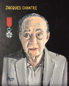 MyFrenchLife™ – MyFrenchLife.org - Jacques Chantre - war hero - prisoner of war - WW11 - portrait - Ray Johnstone