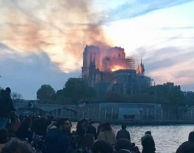MyFrenchLife™ - MyFrenchLife.org - Holy Smoke - Notre Dame in flames